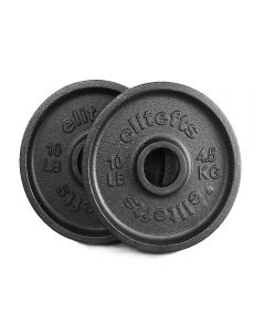 elitefts™ 10lb Deep Dish Olympic Plate - Blk
