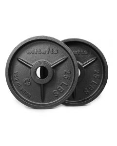 elitefts™ 25lb Deep Dish Olympic Plate - Blk