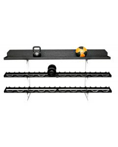 Pro Style Dumbbell Rack with Kettlebell Tray