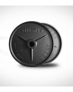 elitefts™ 45lb Deep Dish Olympic Plate - Blk