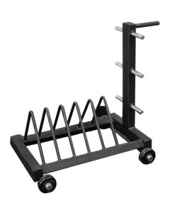 Bumper Plate Rack with Wheels - 6 Plate - Signature