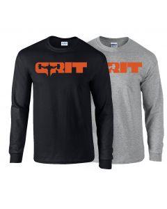 elitefts Grit Orange Long Sleeve T-Shirt