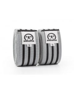 Elitefts Heavy Knee Wrap, Gray w/Blk Stripes 3.0M