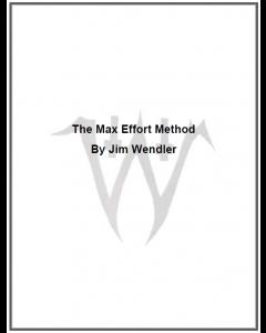 The Max Effort Method (eBook)