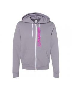 EltieFTS Tagline Pink Full Zip Hoodie