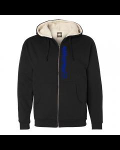 EliteFTS Tagline Royal Blue Sherpa Lined Full Zip Hoodie
