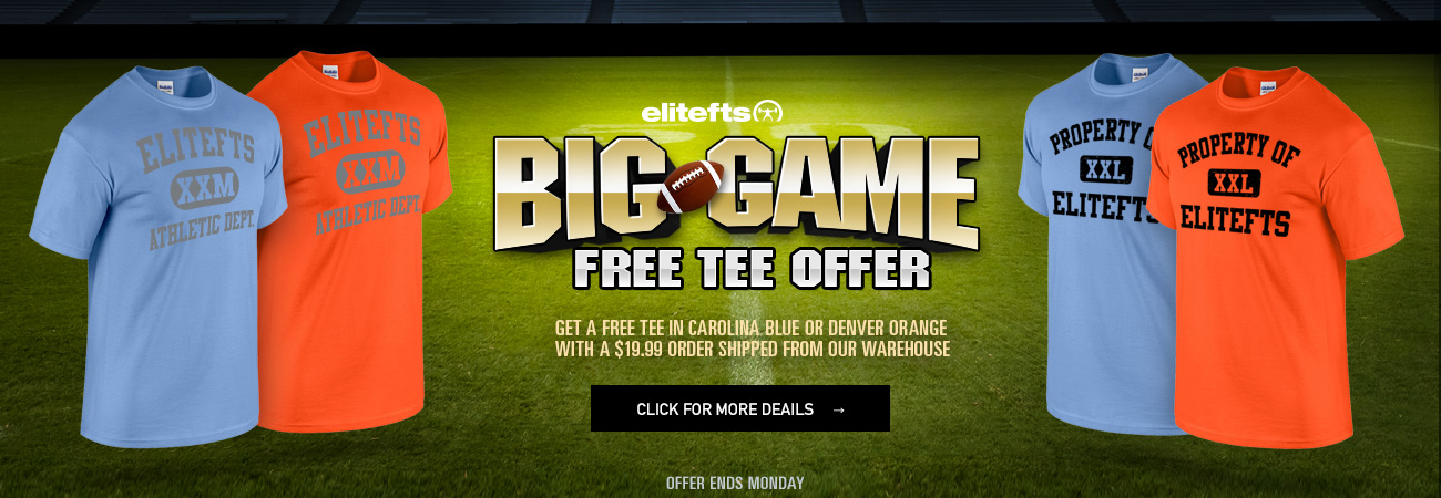 big game free tee offer