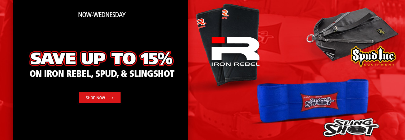 spud inc, iron rebel, sling shot sale