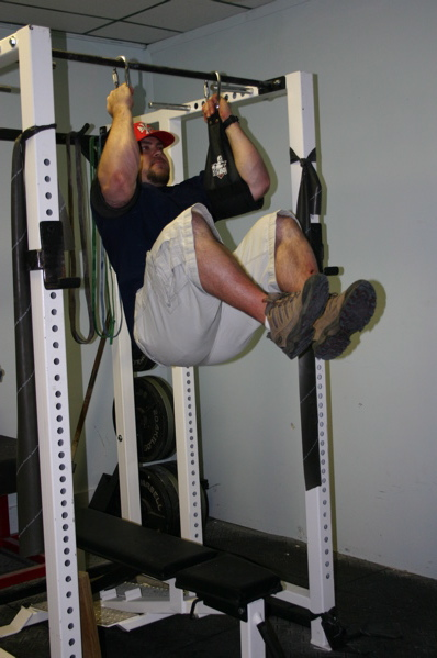 Hanging Leg Raise With Straps You can hang from a chin up