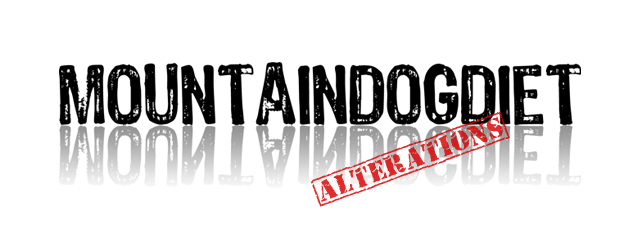 Mountain Dog Diet Alterations