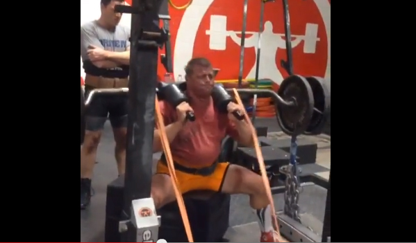 Elitefts™ SS Yoke Bar Box Squat w/ Chains & Forward attached Bands