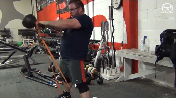 Elitefts™ Kettlebell Swing with Bands
