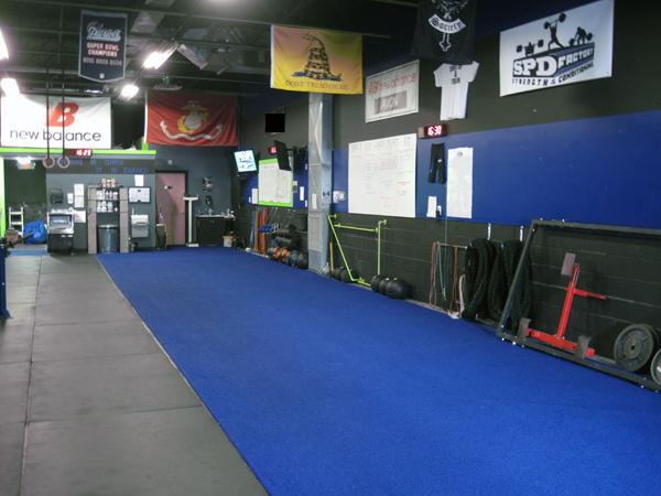 Rob English gym turf area 051514