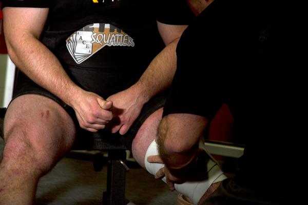 Joe schillero ted toalston wrapping knees 062714