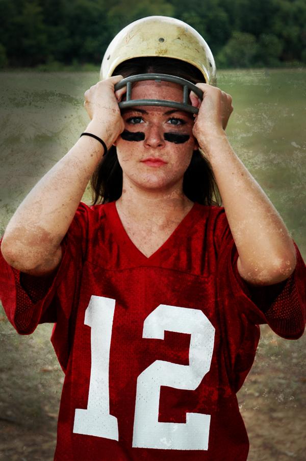 Football female helmet amy wattles 081214