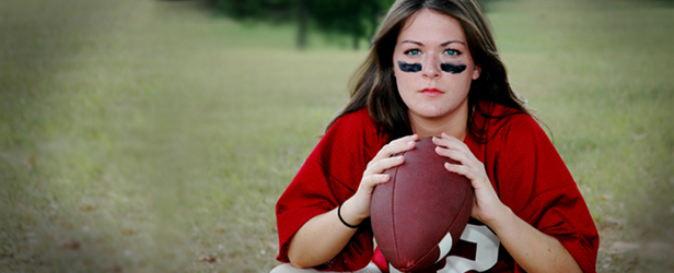 The Courage of the Female Football Player