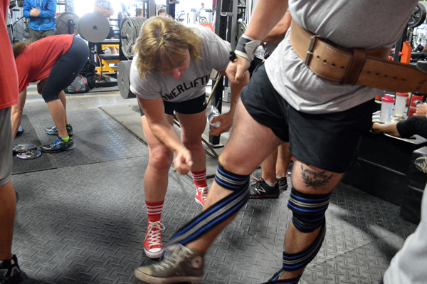ins outs knee wraps PLE attendees 100714