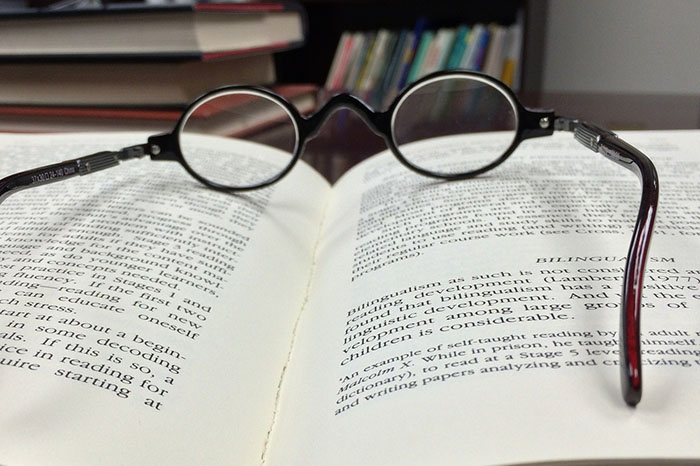 book glasses