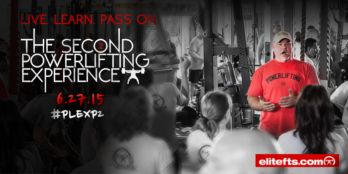 Register Now For The Second elitefts™ Powerlifting Experience