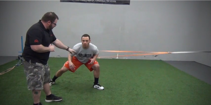 WATCH: Two Lateral Speed Drills with Bands to Improve Change of Direction