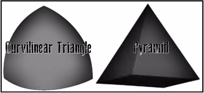 curvilinear triangle pyramid