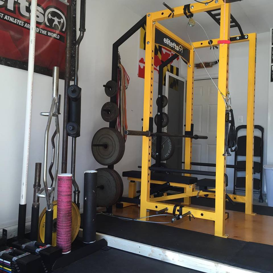 Bench and the first training day on my new elitefts equipment