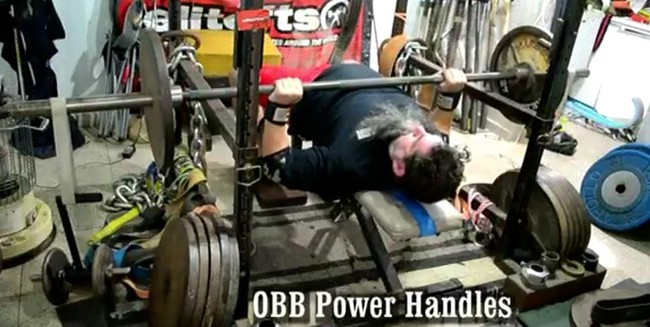 Video of Clint Darden Chaos Benching with the OBB Power Handles