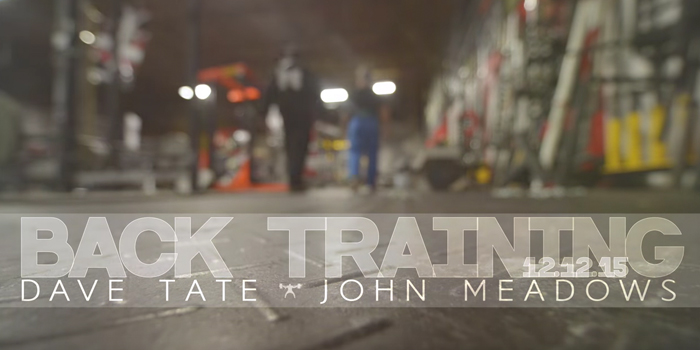 WATCH: High Volume Back Training with Dave Tate and John Meadows (Full Training Included)
