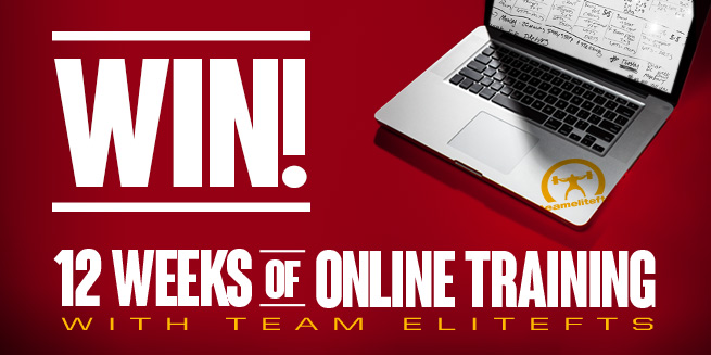 THREE DAYS LEFT — Win 12 Weeks of Free Online Training from Team Elitefts
