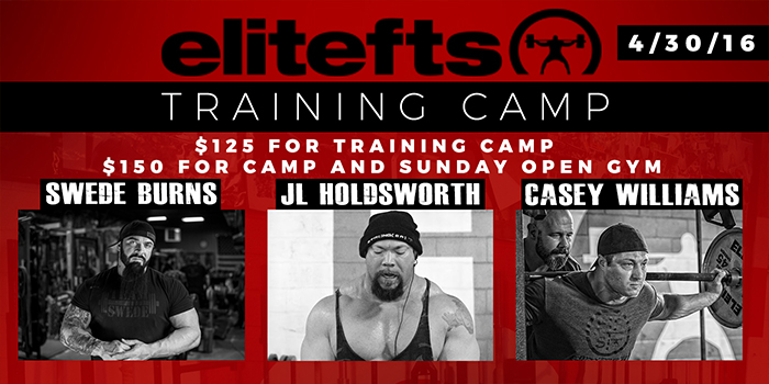 REGISTER NOW: April 30th Training Camp with JL Holdsworth, Swede Burns, and Casey Williams