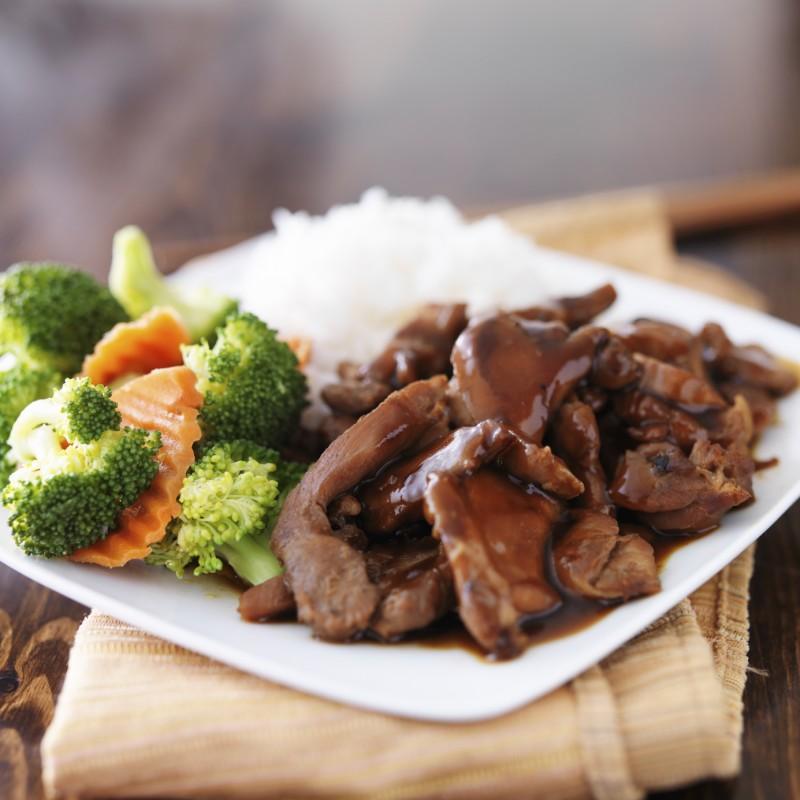 rice and steak
