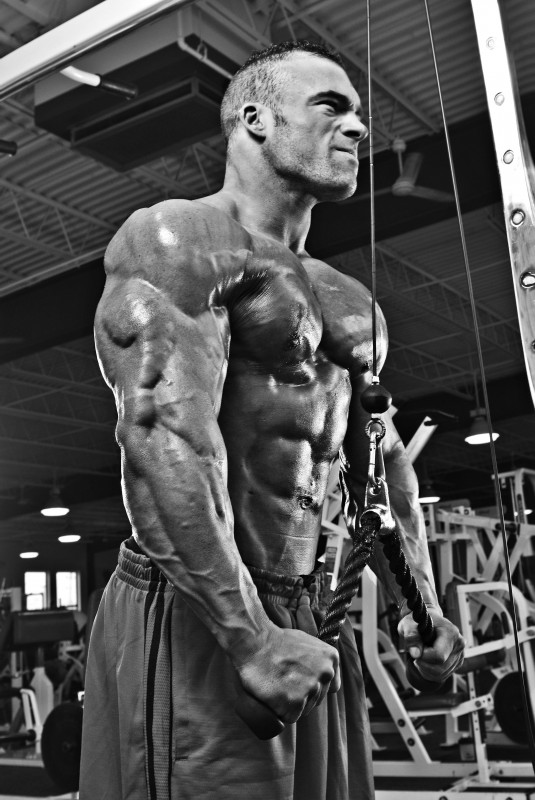 pressdowns for large triceps