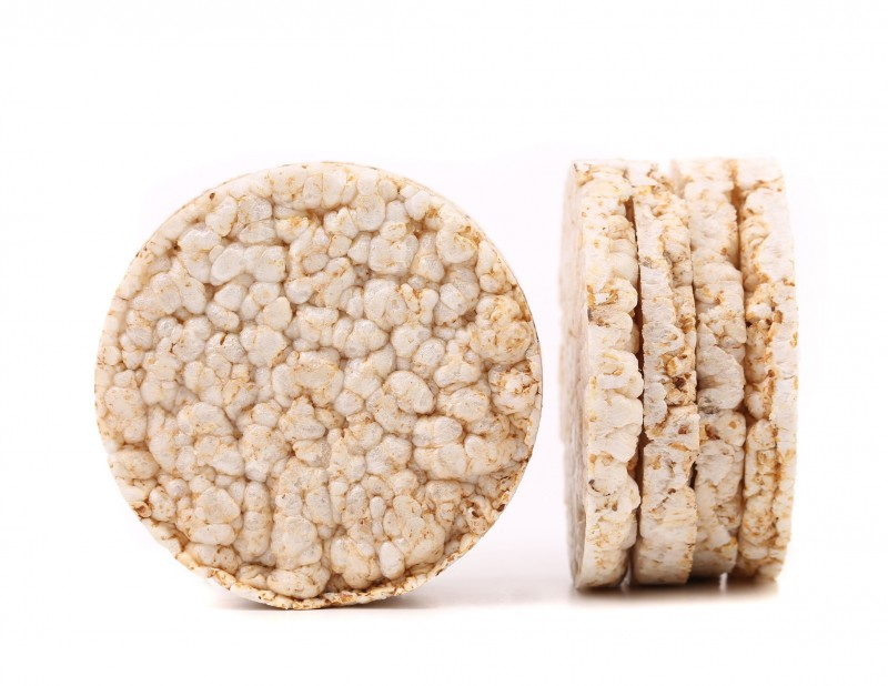 21247569 - corn crackers isolated on a white background