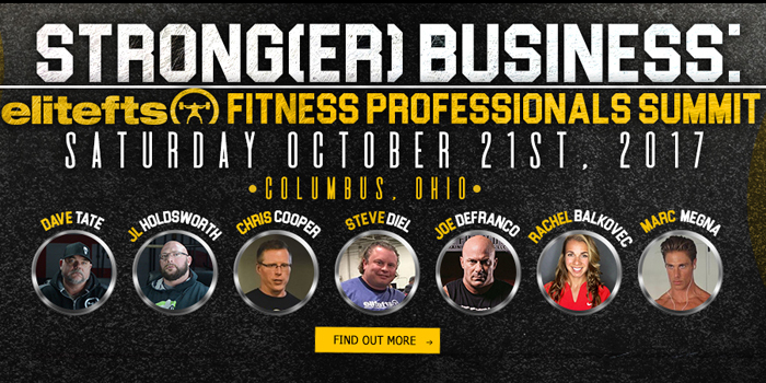WATCH: Strong(er) Business: elitefts Fitness Professional Summit Speaker Preview
