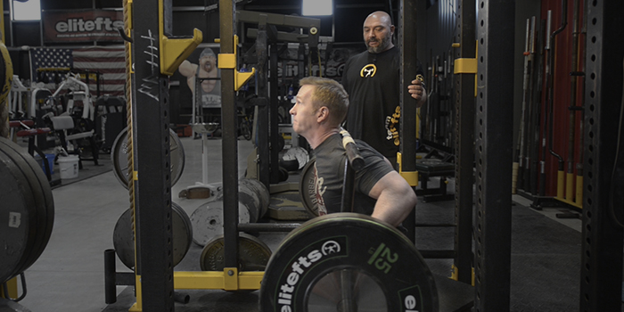 WATCH: How to Box Squat with the Rackable Cambered Squat Bar