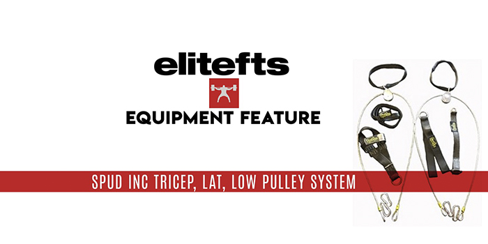WATCH: Equipment Feature — Spud Inc. Tricep, Lat, Low Pulley System