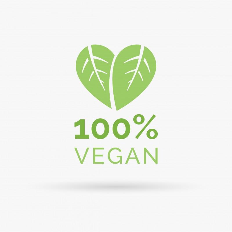 100% vegan food icon design vector symbol