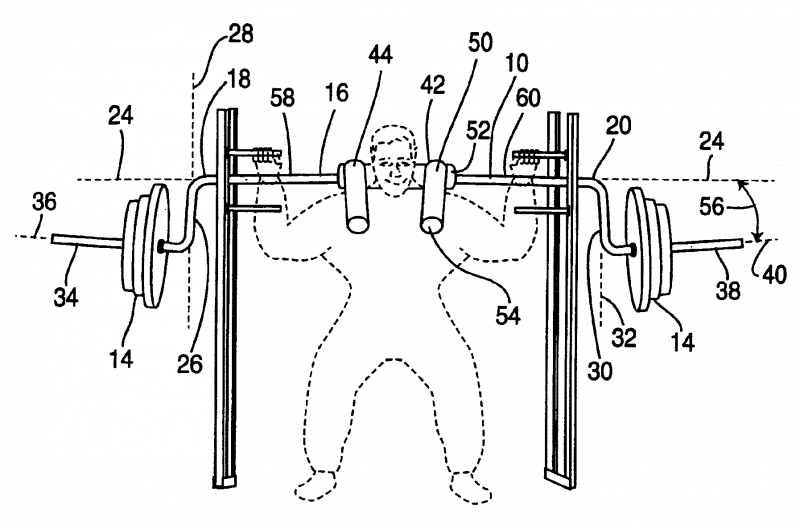 cambered safety bar patent