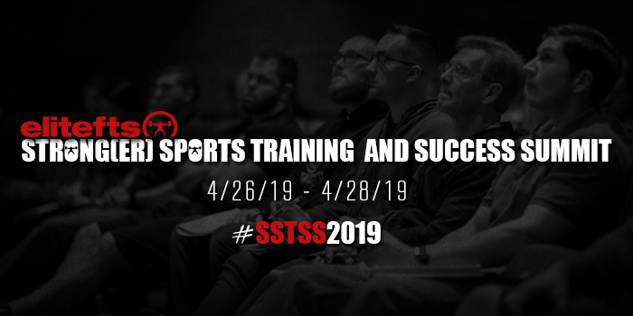 Strong(er) Sports Training and Success Summit 2019 / Elite FTS