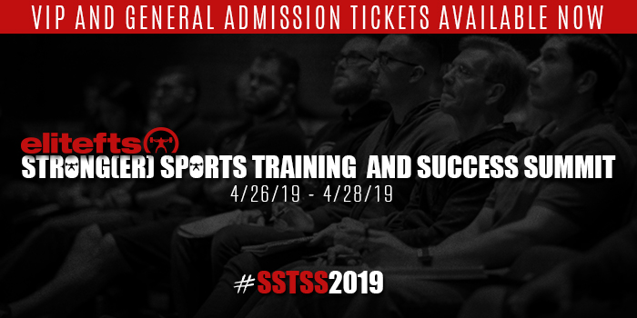 Update: elitefts Strong(er) Sports Training and Success Summit Schedule and Registration