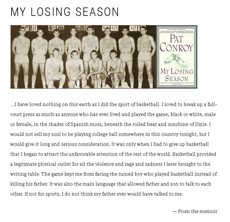 losing season pat conroy