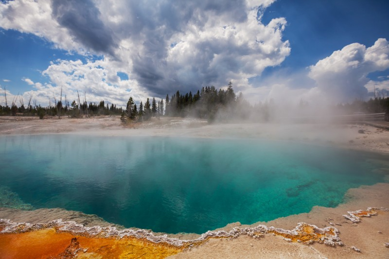 15219527 - west thumb geyser basin in yellowstone national park
