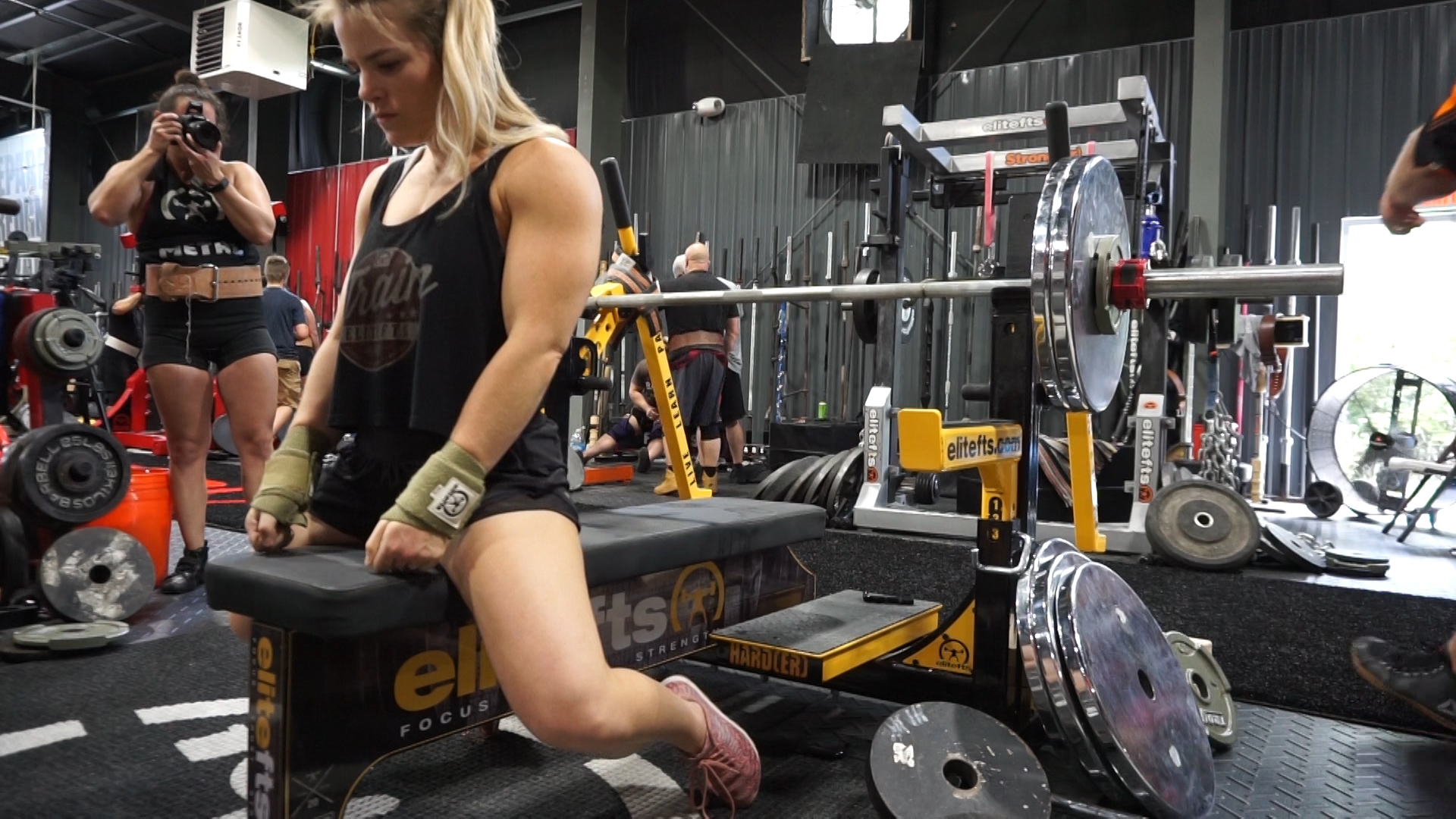 Training at EliteFTS Day Two - Bench