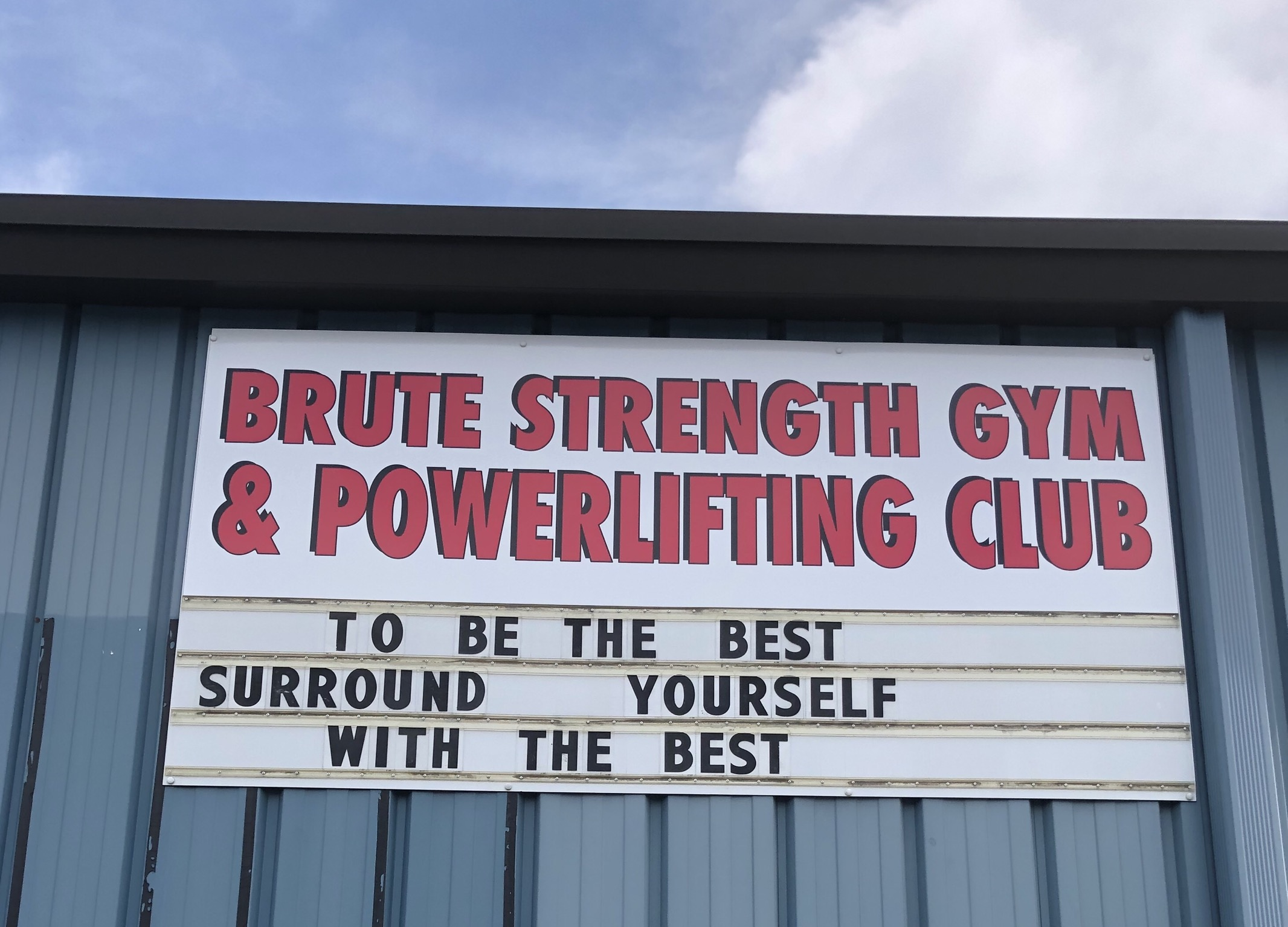 brute outside sign pic