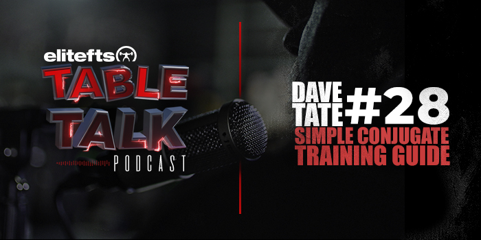 LISTEN: Table Talk Podcast #28 — A Simple and Effective Template for Conjugate Training, Part 1