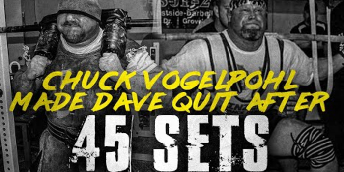 LISTEN: Table Talk Podcast Clip — Chuck Vogelpohl Made Dave Quit After 45 Sets