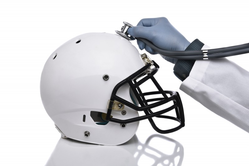Football Concussion Concept