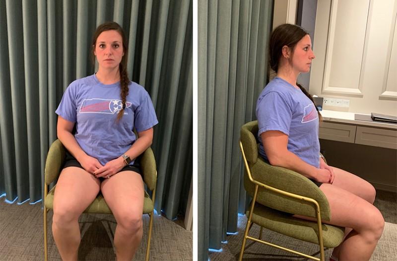 M Upright posture