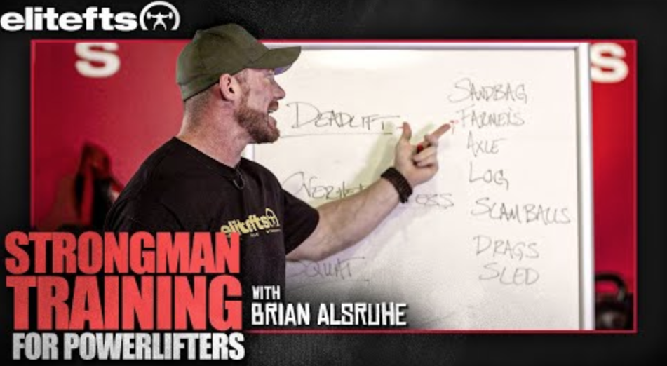 WATCH: How to Implement Strongman into Your Powerlifting Training [Whiteboard Edition]