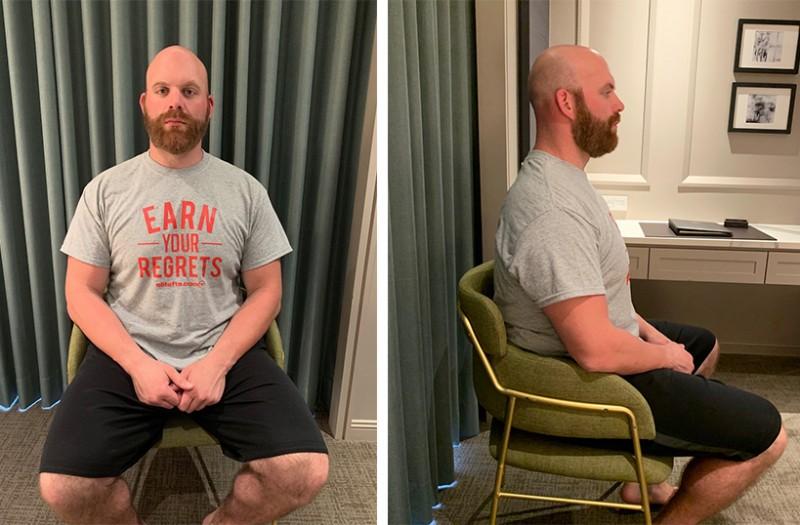 T straight posture